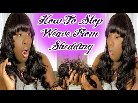 How To Stop Weave From Shedding | feat. Mi Lisa Hair