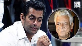 Salman Khan REACTS On Om Puri's Demise | LehrenTV