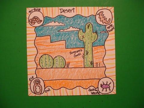 Let's Draw Animal Habitats-The Desert!
