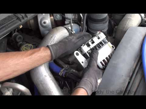 Superduty 6.0 alternator serpentine belt change simple and easy way