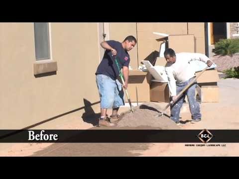 Installing Pavers in Arizona Before & After By Romeros Pavers
