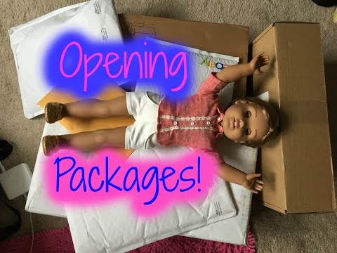 Opening Packages from Etsy, eBay and American Girl!