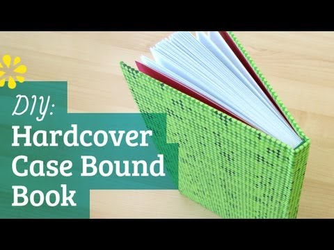 DIY Hardcover Book | Case Bookbinding Tutorial | Sea Lemon