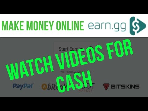 Make Money Watching Videos Passively with Earn.gg [PayPal/Bitcoin/Gift Cards] - Make Money Online