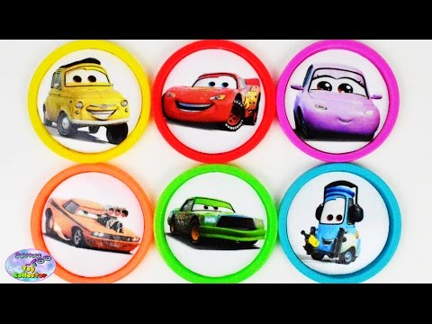 Learn Colors Disney Cars Toys Lightning McQueen Chick Hicks Surprise Egg and Toy Collector SETC