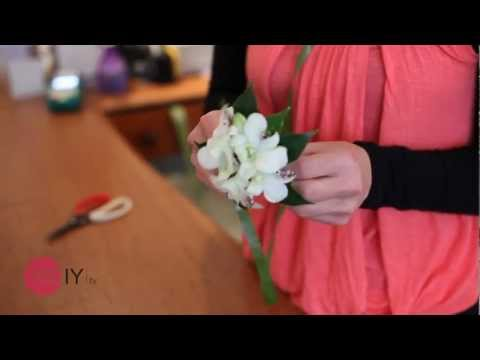 How to make a corsage flower for a wedding