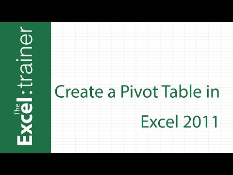 Excel for Mac 2011: Creating a Pivot Table