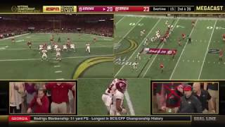 #4 Alabama vs. #3 Georgia | Game Winning Touchdown (Command Center View)