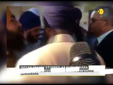 Indian envoy stopped at Melbourne Gurudwara