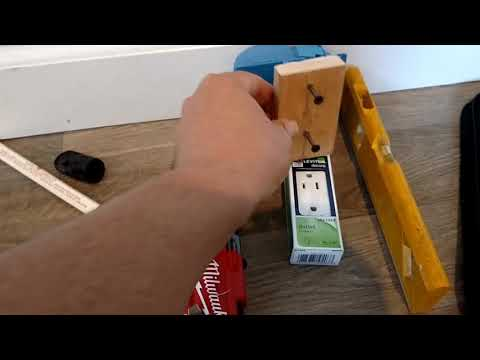Electrical box drywall jig/template and installation.