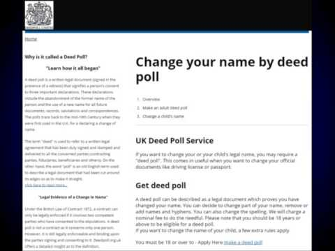 What is a Deed Poll? What's A DeedPoll For