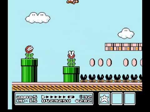 Super Mario Bros. 3 tanooki suit statue goomba's kuribo's shoe invincibility glitch + others SMB3