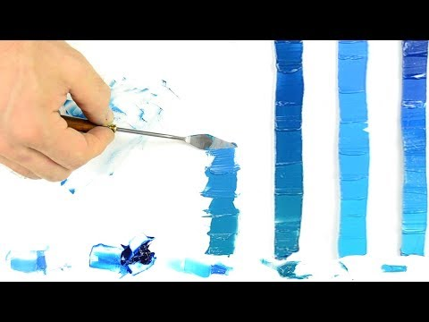 Mixing Cool Blue Oil Paint