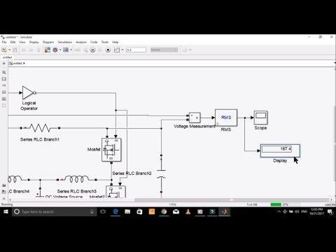 Transformer-less step up DC to AC inverter Design in Simulink Matlab