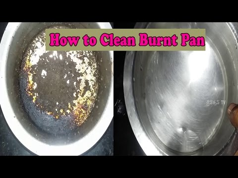 How to Clean Burnt Pan Easily-Useful Kitchen Tip-Easiest Way to Clean a Burnt Pan or Pot