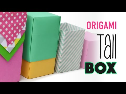 Tall Origami Box Instructions - Any Size - DIY