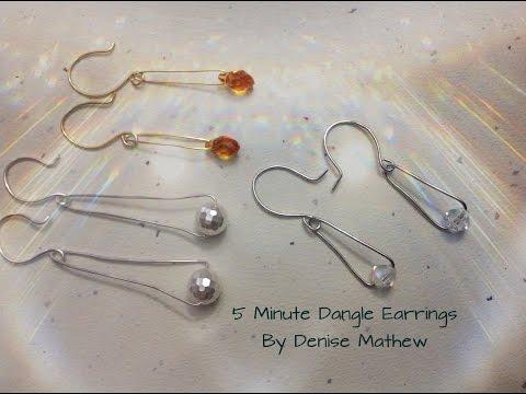 5 Minute Dangle Earrings by Denise Mathew