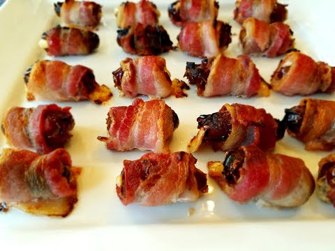 💖 Bacon Wrapped Dates Stuffed with Cheese easy Thanksgiving Appetizer Recipe  Ideas