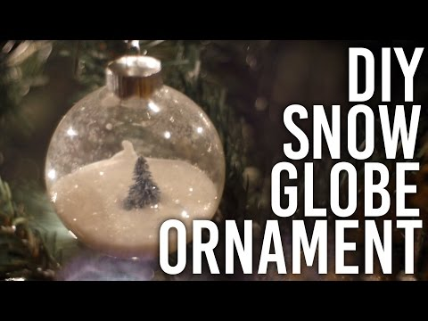 How to Make Snow Globe Ornament : DIY