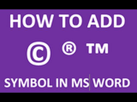 How to type Copyright ,Registered and Trade Mark Symbol in MS Word Document-do it quickly