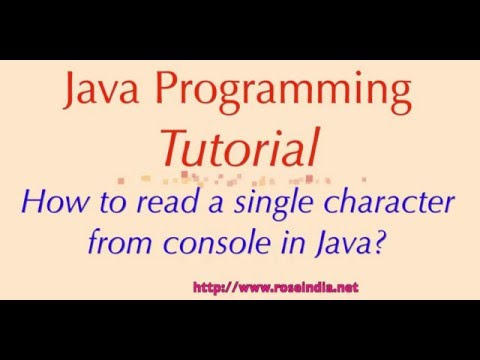 How to read a single character from console in Java?