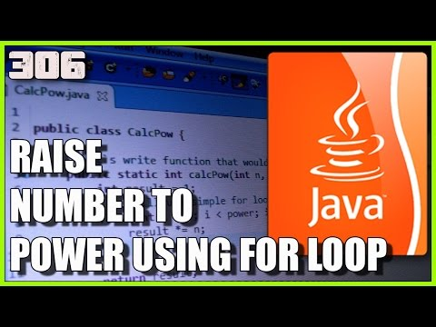 JAVA Raise a number to a power using FOR loop
