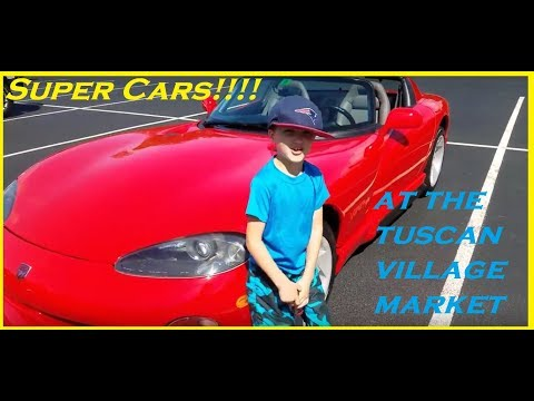 Supercar show in a Dodge Viper at the Tuscan Kitchen