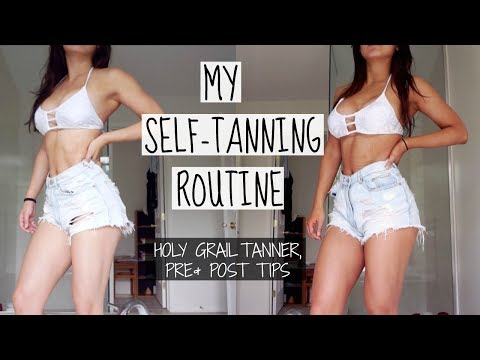 SELF-TANNING ROUTINE TO LOOK TONED | Pre & Post Tips, Holy Grail Tanner
