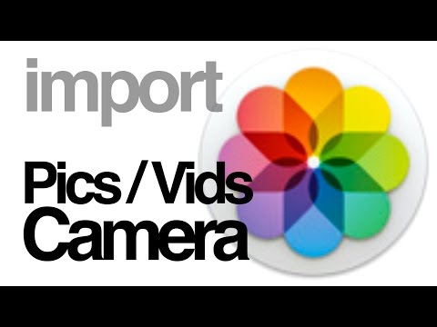 How to imports videos pictures from camera to PHOTOS app Yosemite Mac