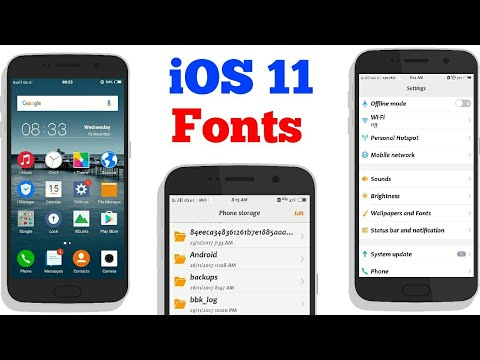 Get iOs 11 FONTS Styles in Your PHONES [No Root]