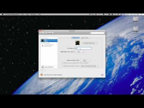 How to change a user name in OS X Snow Leopard