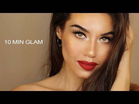 10 MINUTE GLAM MAKEUP | Easy and Affordable Glam Makeup | MAKEUP IN A RUSH