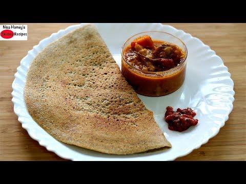 Bajra Dosa Recipe - Pearl Millet/Kambu Dosai - Healthy Indian Breakfast Recipes Diabetes Weight Loss