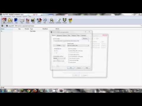 how to make a setup.exe from a rar file