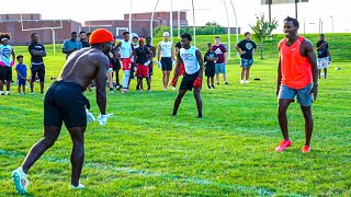 PLAYING 7ON7 AGAINST TYREEK HILL! (HE HAD NFL PLAYERS ON HIS TEAM) FT. B-LOU