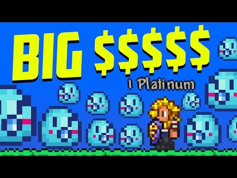 Terraria: Awesome AFK Coin Farm Using Slime Staff & Lucky Coin! 1.3.5 Update