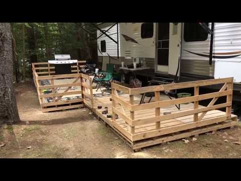 How To Build an Amazing RV Pallet Deck For Free