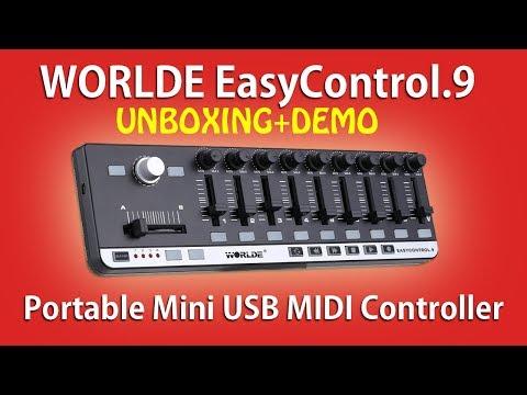WORLDE EASYCONTROL 9 - Portable USB MIDI Controller (UNBOXING & DEMO)