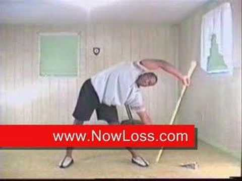 How to get rid of love handles with a broom