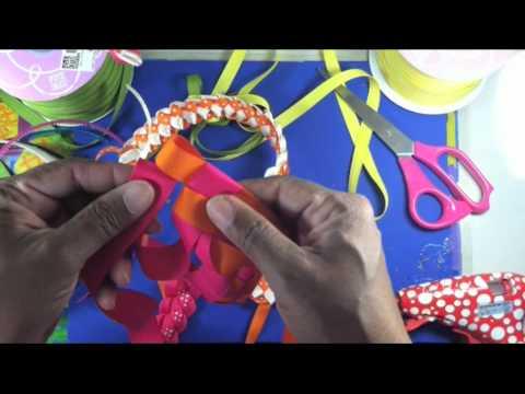 How to make Basic Ribbon Weaving  Headband 1.0