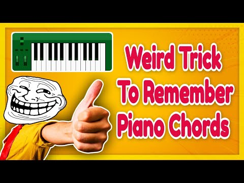 Weired Trick to Remember All Major & Minor Piano Chords Quickly