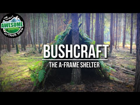 Bushcraft Shelters - The A Frame Shelter | TA Outdoors