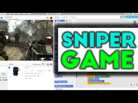Scratch Tutorial: Awesome Sniping First Person Shooter Game!