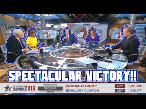The moment CBS NEWS realizes Donald Trump will WIN THE ELECTION !!