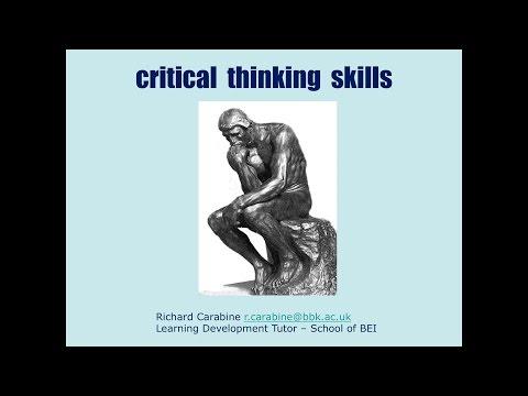 Study Skills Workshop 05 - Critical Thinking Skills