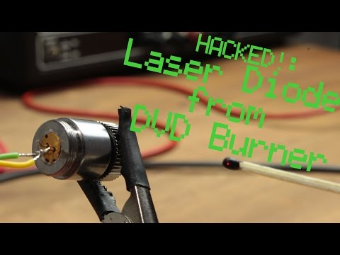 HACKED!: Laser Diode from DVD Burner || Constant Current Source