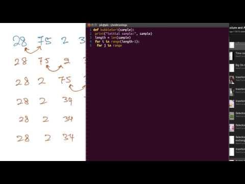 Python Algorithms - Bubble sort