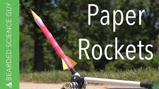 Paper Rockets for Under Five Dollars