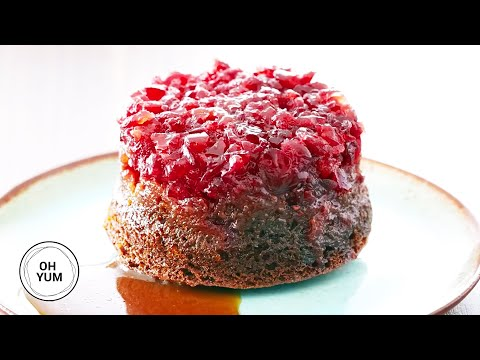 Cranberry Gingerbread Upside Down Cake | Oh Yum with Anna Olson