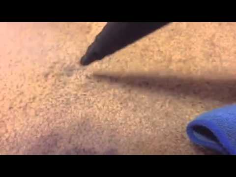 Removing bubble gum from carpet - auto detailing by Firehou